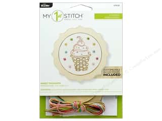 projects & kits: Bucilla Embroidery Kit Stamped 4 in. My 1st Sweet Thought