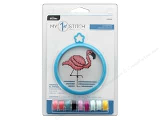projects & kits: Bucilla Cross Stitch Kit My 1st 3 in. Tropical Flamingo