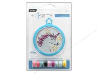 yarn & needlework: Bucilla Cross Stitch Kit My 1st 3 in. Mystical Unicorn