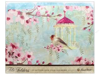 Punch Studio File Folder Bird Cage/Pink Blossoms (10 pieces)
