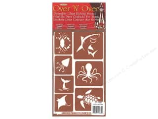 craft & hobbies: Armour Over 'N' Over Stencil Sea Creatures