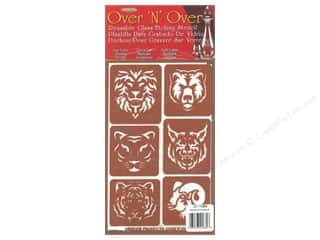 craft & hobbies: Armour Over 'N' Over Stencil Exotic Animals