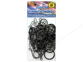 beading & jewelry making supplies: Toner Findings Gunmetal