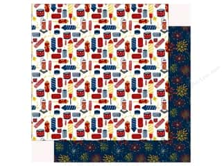 Echo Park Collection Celebrate American Paper 12 in. x 12 in.  Firecrackers (25 pieces)