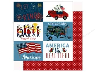 scrapbooking & paper crafts: Echo Park Collection Celebrate American Paper 12 in. x 12 in.  Journaling Cards 4 in. x 6 in. (25 pieces)