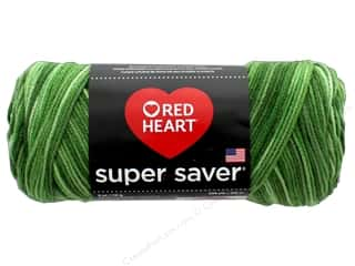 yarn & needlework: Red Heart Super Saver Yarn #629 Green Tones 244 yd.