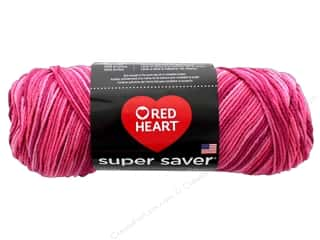 Red Heart Super Saver Yarn #707 Pink Tones 244 yd.