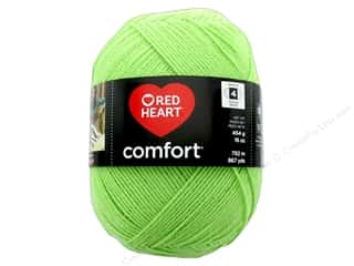 yarn: Red Heart Comfort Yarn 867 yd. #3229 Melon Green