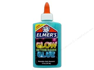 glues, adhesives & tapes: Elmer's Glow In The Dark Glue 5 oz. Blue