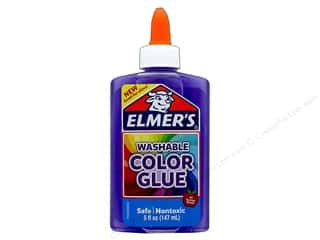 glues, adhesives & tapes: Elmer's Washable Color Glue 5 oz. Transparent Purple