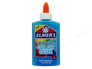 glues, adhesives & tapes: Elmer's Washable Color Glue 5 oz. Transparent Blue