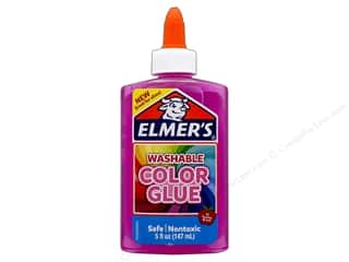 glues, adhesives & tapes: Elmer's Washable Color Glue 5 oz. Transparent Pink