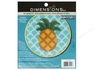 yarn & needlework: Dimensions Applique Kit Learn A Craft 6 in. Felt Pineapple