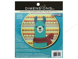 yarn & needlework: Dimensions Applique Kit Learn A Craft 6 in. Felt Friend Llama