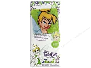 yarn & needlework: Dimensions Latch Hook Kit 12 in. x 12 in. Disney Tinkerbell