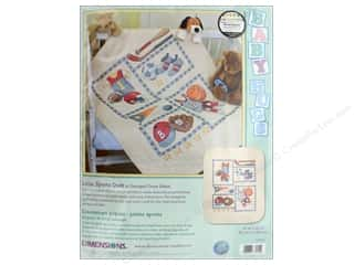 yarn & needlework: Dimensions Stamped Cross Stitch Kit 34 x 43 in. Little Sports Quilt