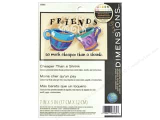 projects & kits: Dimensions Stamped Cross Stitch Kit 7 x 5 in. Cheaper Than a Shrink