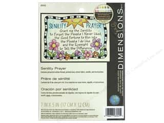 projects & kits: Dimensions Cross Stitch Kit 7 in. x 5 in. Senility Prayer