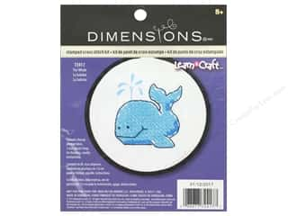 yarn & needlework: Dimensions Stamped Cross Stitch Kit 3 in. The Whale