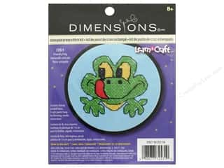 yarn & needlework: Dimensions Stamped Cross Stitch Kit 3 in. Friendly Frog