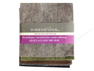 Felt: Dimensions 100% Wool Felt 6 in. x 6 in. Neutral Bundle