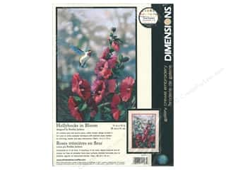 "yarn & needlework: Dimensions Crewel Embroidery Kit 11""x 16"" Hollyhocks In Bloom"