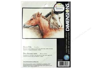 yarn & needlework: Dimensions Cross Stitch Kit 7 in. x 5 in. Horse Pals