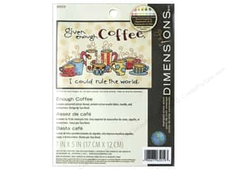 projects & kits: Dimensions Stamped Cross Stitch Kit 7 x 5 in. Enough Coffee