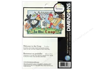 projects & kits: Dimensions Stamped Cross Stitch Kit 7 x 5 in. Welcome To The Coop