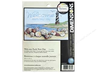 yarn & needlework: Dimensions Counted Cross Stitch Kit 7 x 5 in. Welcome Each New Day
