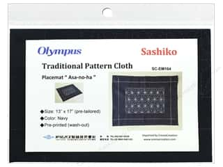 yarn & needlework: Olympus Sashiko Cotton Cloth 13 in. x 17 in. Pre-printed Navy