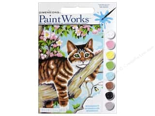 projects & kits: Dimensions PaintWorks Paint By Number 9 in. x 12 in. Lazy Cat