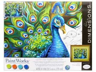 projects & kits: Dimensions PaintWorks Paint By Number 14 in. x 11 in. Wild Feathers