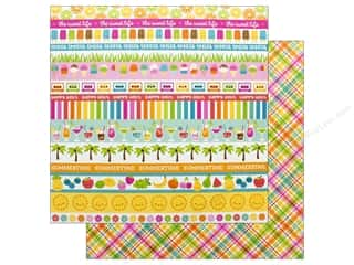 designer paper: Doodlebug Collection Sweet Summer Paper 12 in. x 12 in. Punch Plaid (25 pieces)