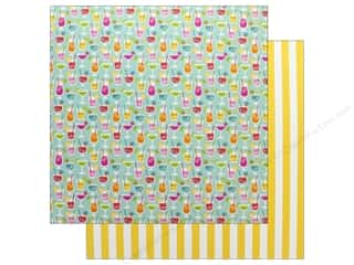 paper straw: Doodlebug Collection Sweet Summer Paper 12 in. x 12 in. Happy Hour (25 pieces)