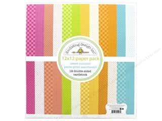 Doodlebug Collection Sweet Summer Paper Pack 12 in. x 12 in. Petite