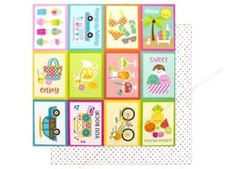 Doodlebug Collection Sweet Summer Paper 12 in. x 12 in. Summer Sprinkle (25 pieces)