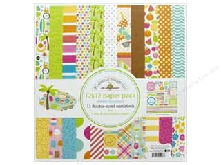 scrapbooking & paper crafts: Doodlebug Collection Sweet Summer Paper Pack 12 in. x 12 in. Sweet Summer