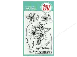 scrapbooking & paper crafts: Avery Elle Clear Stamp Spring Bouquet