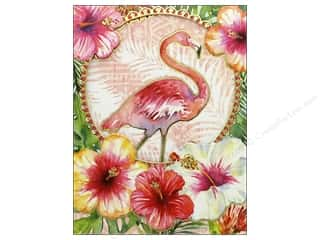 Punch Studio Note Pad Pocket Window Flamingo