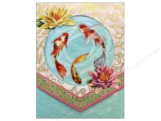 Punch Studio Note Pad Pocket Window Koi Fish