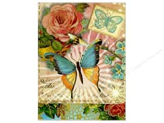 die cuts: Punch Studio Pocket Note Pad Window Antique Butterfly