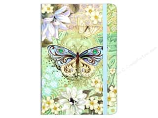 elastic: Punch Studio Journal Blue Green Butterfly