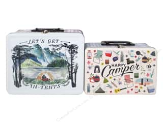 novelties: Molly & Rex Lunch Box Tin Happy Camper 2 pc