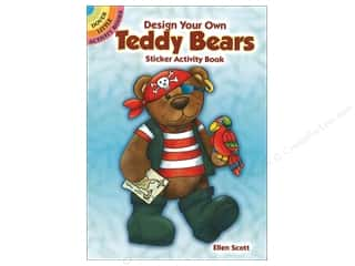 books & patterns: Dover Publications Little Design Your Own Teddy Bear Sticker Activity Book