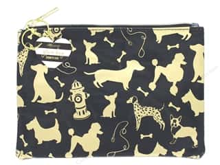 gifts & giftwrap: Lady Jayne Cosmetic Bag Glam Dog Silhouettes Gold Foil