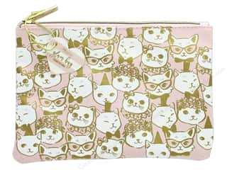 Gifts & Giftwrap: Lady Jayne Cosmetic Bag Glam Fancy Cats Gold Foil