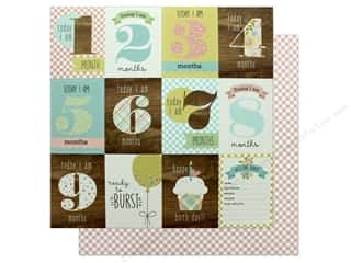 scrapbooking & paper crafts: Simple Stories Oh Baby Expecting Paper 12 in. x 12 in. Baby Bump (25 pieces)