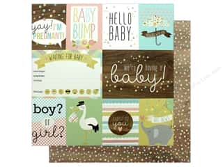 scrapbooking & paper crafts: Simple Stories Collection Oh Baby Expecting Paper 12 in. x 12 in. Elements (25 pieces)