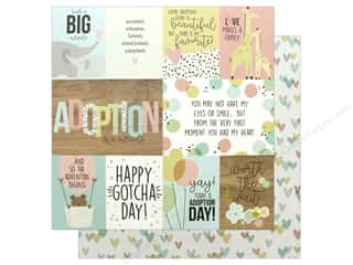 scrapbooking & paper crafts: Simple Stories Collection Oh Baby Adoption Paper 12 in. x 12 in. Elements (25 pieces)